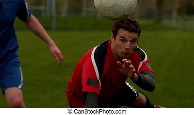 empoigner, joueurs football, balle