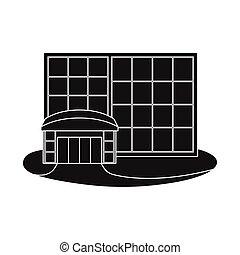 emporio, logo., ventana, ilustración, tienda, conjunto, vector, illustration., acción
