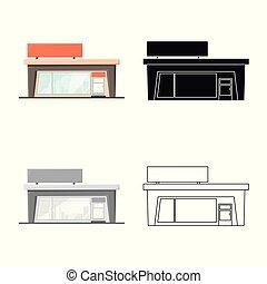 emporio, tienda, stock., comercial, colección, vector, ilustración, logo., icono