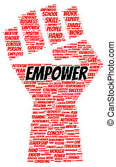 Empower word cloud shape concept