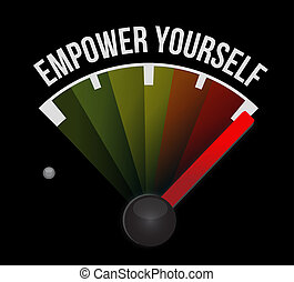 Empower Yourself meter sign concept illustration design...