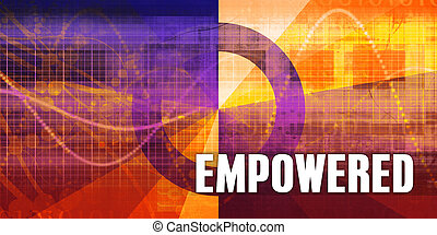 Empowered Focus Concept on a Futuristic Abstract Background