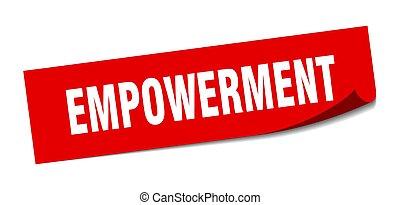empowerment, 広場, 印。, empowerment., 皮むき器, sticker.