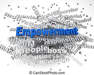 empowerment, 概念, 単語, イメージ, 問題, 背景, 雲, 3D