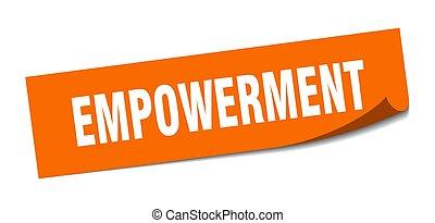 empowerment., 皮むき器, empowerment, 印。, sticker., 広場