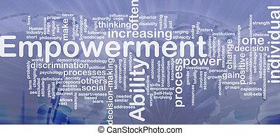 Empowerment background concept - Background concept...
