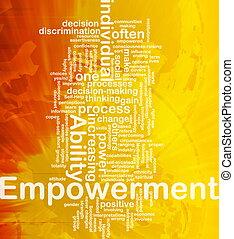 Empowerment background concept - Background concept ...