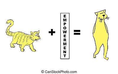 Empowerment - Business cartoon about empowerment.