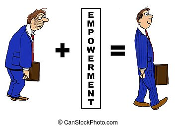 Empowerment - Business cartoon showing the positive impact ...