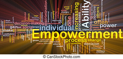 empowerment, conceito, osso, glowing, fundo