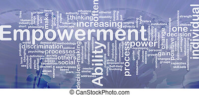 empowerment, concepto, plano de fondo