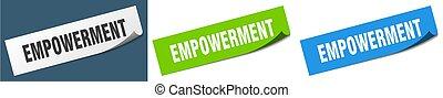 empowerment paper peeler sign set. empowerment sticker