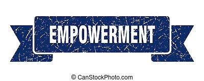empowerment ribbon. empowerment grunge band sign. ...