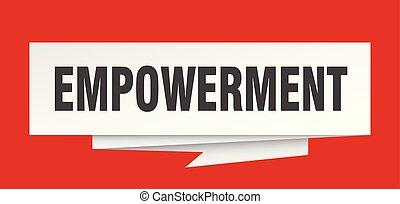 empowerment sign. empowerment paper origami speech bubble. ...