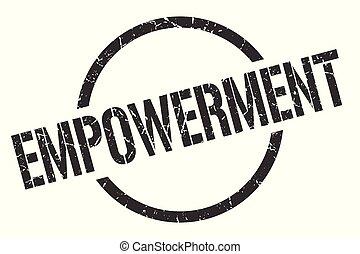 empowerment stamp - empowerment black round stamp
