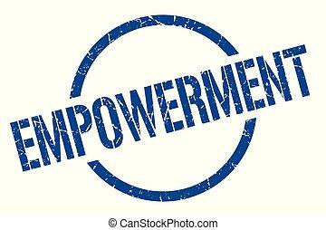 empowerment stamp - empowerment blue round stamp