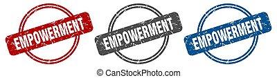 empowerment stamp. empowerment sign. empowerment label set