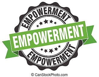 empowerment, stamp., signo., sello