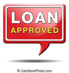 empréstimo, aprovado