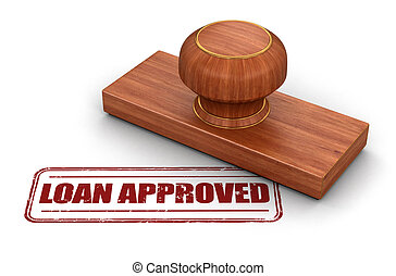 empréstimo, aprovado, selo
