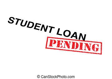 empréstimo, estudante, pendente