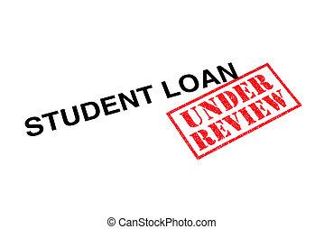 empréstimo, revisão, estudante, sob
