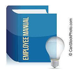 empregado, livro, manual