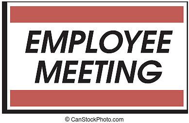 empregado, reunião