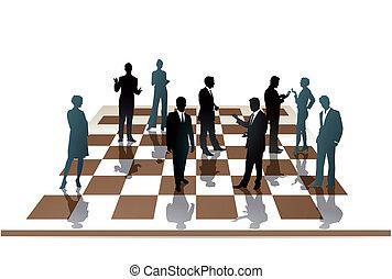 empregados, xadrez