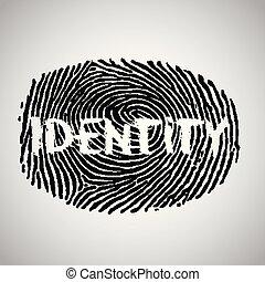 empreinte doigt, vecteur, illustration, 'identity'