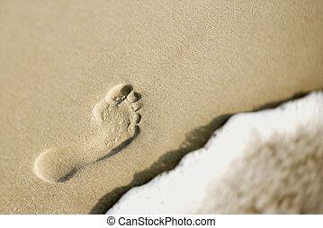 empreinte, sand.