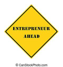 empresário, à frente, sinal