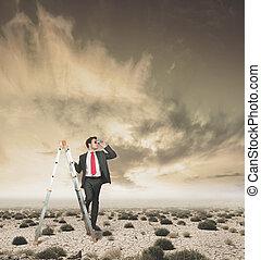 empresário, perspectivas, novo