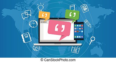 empresa, messaging, sistema, ems