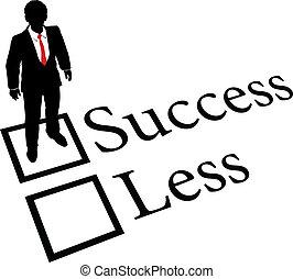 empresa / negocio, éxito, conseguir, menos, persona, no