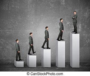 empresa / negocio, éxito, de, un, hombre de negocios