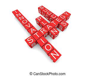 empresa / negocio, éxito, distinguida, crucigrama,...