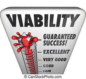 empresa / negocio, éxito, renta, nivel, posible, viability,...