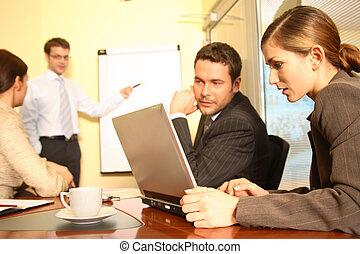empresa / negocio, -, 1, preparando, equipo, propuesta,...