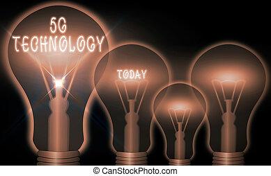 empresa / negocio, 5g, foto, actuación, conceptual, radio, sistema, networks., móvil, nuevo, escritura, mano, internet, technology., showcasing, highspeed, generación