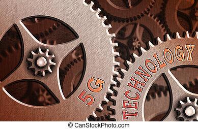 empresa / negocio, 5g, texto, radio, sistema, concepto, networks., móvil, nuevo, escritura, internet, palabra, technology., generación, highspeed