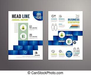 empresa / negocio, aviador, folleto, industria, anual,...