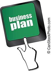 empresa / negocio, botón, computadora, plan, llave, teclado