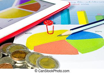 empresa / negocio, círculo, gráfico