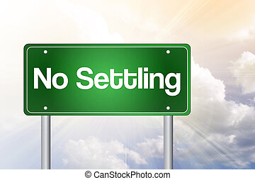 empresa / negocio, camino, no, señal, verde, colonización, concepto