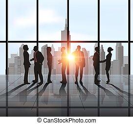 empresa / negocio, ciudad, reunión