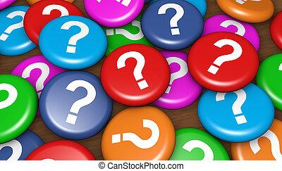 empresa / negocio, cliente, preguntas