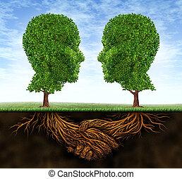 empresa / negocio, colaboración, y, crecimiento