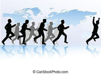 empresa / negocio, competición, gente