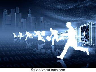empresa / negocio, competición, virtual